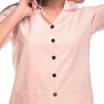 Peach Capri Cotton Half Sleeve Shirt & Pyjama Night Wear Set