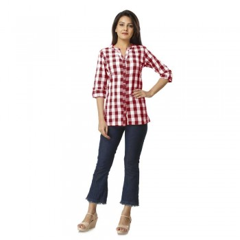 MAROON CHECK SHIRT JAIPUR