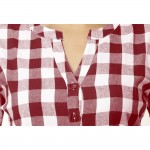 MAROON CHECK CASUAL SHIRTS  JAIPUR