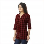 DARK BROWN CHECK SHIRT