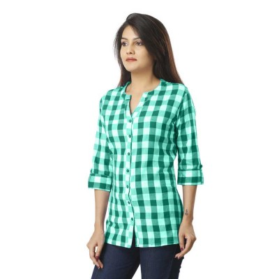 GREEN CHECK SHIRT JAIPUR