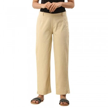 ASMANII OFFWHITE COTTON CASUAL PANTS JAIPUR