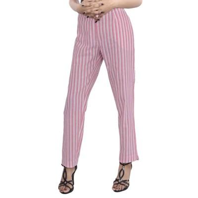 PINK WHITE STRIPED PANT