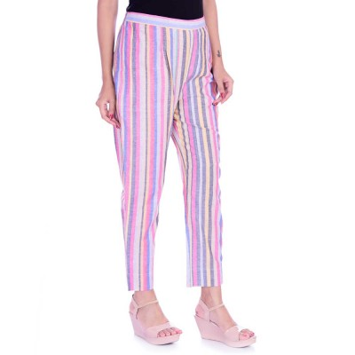 ASMANII MULTICOLOR STRIPED PANTS JAIPUR