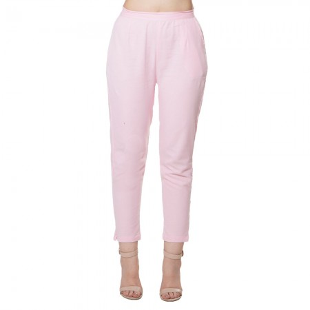 BABY PINK COTTON FLEX PANT FOR WOMEN JAIPUR