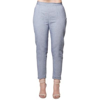 GREY COTTON SAMERY PANTS FOR WOMEN JAIPUR