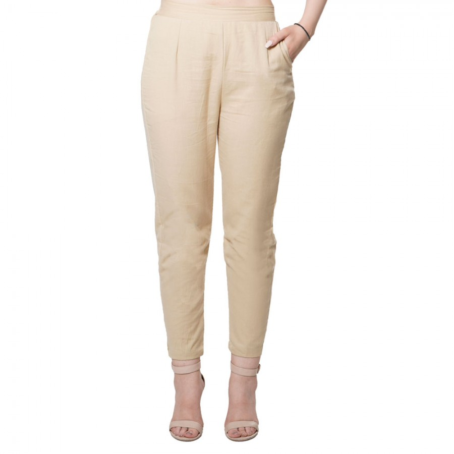 CHIKU COTTON FLEX PANT FOR WOMEN JAIPUR