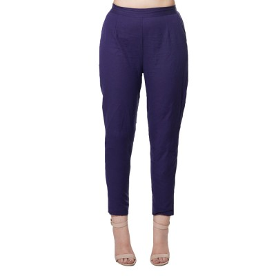 DARK BLUE COTTON FLEX PANT FOR WOMEN  JAIPUR