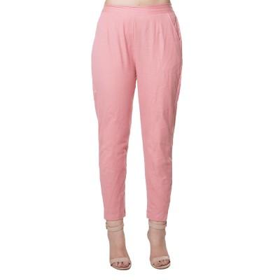 MAGENTA PINK COTTON FLEX PANTS  FOR WOMEN JAIPUR