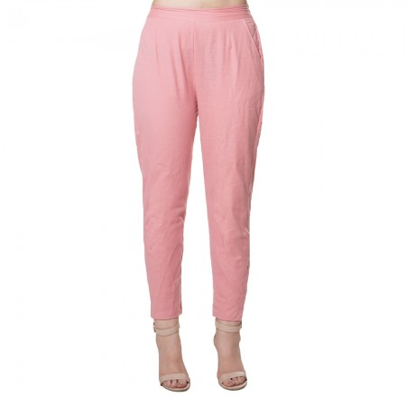 MAGENTA PINK COTTON FLEX PANTS  FOR WOMEN JAIPUR