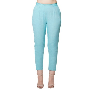 SKY BLUE COTTON SAMERY PANT FOR WOMEN  JAIPUR