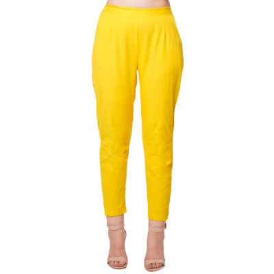 YELLOW  COTTON FLEX PANTS  FOR WOMEN JAIPUR
