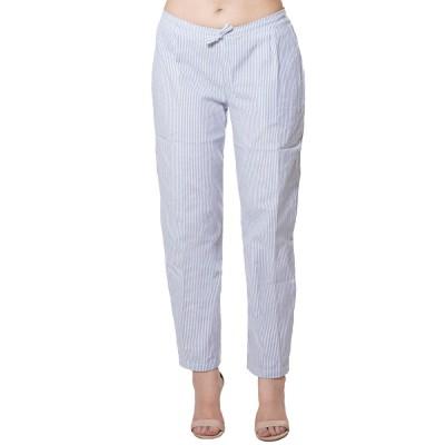BLUE WHITE STRIPED PANT FOR WOMEN JAIPUR