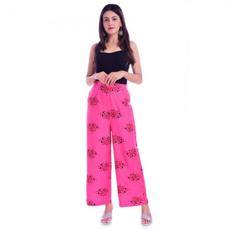 ASMANII PINK RECTANGLE PRINTED PALAZZO JAIPUR