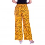 ASMANII  YELLOW BLACK PRINTED PALAZZO PANT  JAIPUR