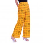 ASMANII YELLOW ROUND FLOWER PRINTED PALAZZO JAIPUR