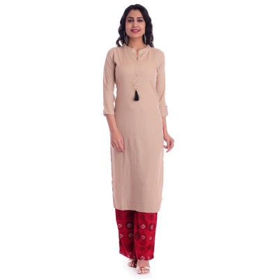 ASMANII CHIKU OPEN NECK KURTI WITH RED WHITE PALAZZO SET JAIPUR