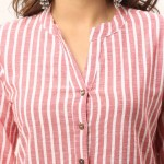 RED COTTON CASUAL STRIPED SHIRTS JAIPUR