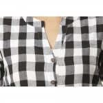 ASMANII BLACK CHECK SHIRT JAIPUR