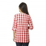 PINK CHECK CASUAL SHIRT