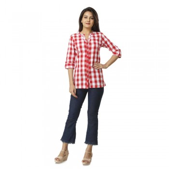 PINK CHECK CASUAL SHIRTS  JAIPUR