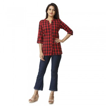 RED CHECK SHIRT JAIPUR