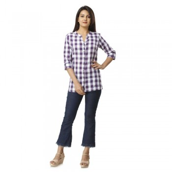 PURPLE CHECK CASUAL SHIRTS  JAIPUR