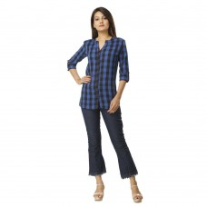 BLUE CHECK SHIRT JAIPUR