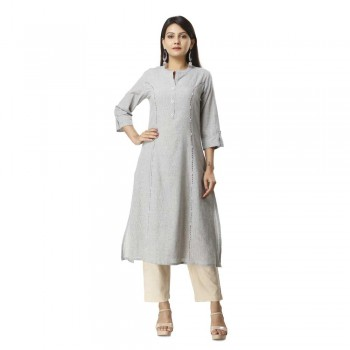 ASMANII LIGHT BLUE COTTON KURTA JAIPUR