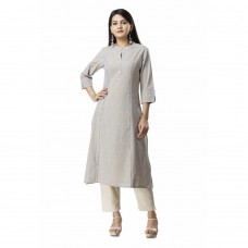 ASMANII GREY COTTON KURTA PANT SET JAIPUR