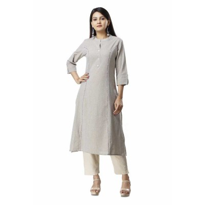 ASMANII GREY COTTON KURTA JAIPUR